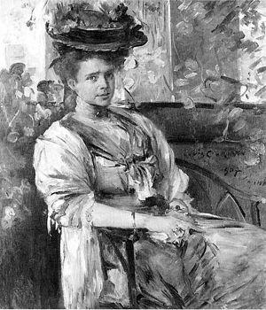Marg Moll - Lovis Corinth, Portrait of Margarethe Moll (1907), oil on canvas, 160 x 120 cm