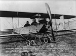 Lt. Thomas DeWitt Milling and Lt. Sherman in airplane at Texas City after breaking American duration and distance record, March 28, 1913 LCCN2002698465.jpg