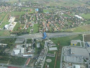 Lučko - Lučko toll plaza from the air