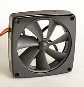 An Axial Box Fan For Cooling Electrical Equipment