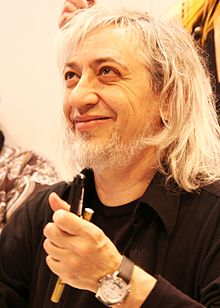 Luis Royo at the 30th Paris Book Fair at the Porte de Versailles
