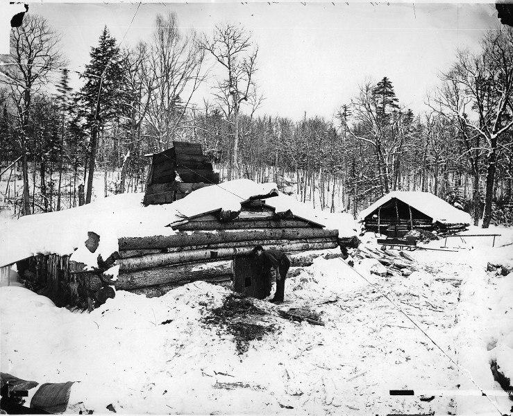 Lumbermen's shanty, Muskoka District