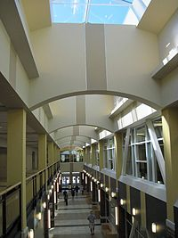 interior of Evans Commons