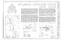 Lycurgus Johnson House, State Highway 142, Lake Village, Chicot County, AR HABS ARK,9-LAKVI,1- (sheet 1 of 11).png