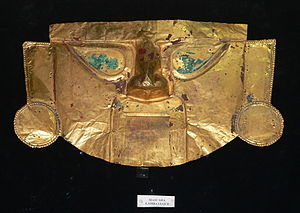 Gold Museum of Peru and Weapons of the World - Golden Mask of the Sican culture, Peru