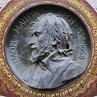 Médaillon de bronze à l'effigie de Simon Maupin, Pierre Aubert.jpg
