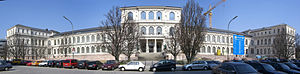 Academy of Fine Arts, Munich - Panoramic view of the 1886 Academy of Fine Arts building.