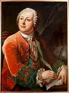 M.V. Lomonosov by L.Miropolskiy after G.C.Prenner (1787, RAN)