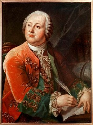 Conservation of mass - Image: M.V. Lomonosov by L.Miropolskiy after G.C.Prenner (1787, RAN)
