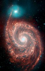 Galaksi Pusaran dilihat dari gelombang panjang Inframerah