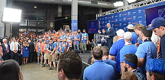 Don Garber - Garber speaking at the announcement event for FC Cincinnati's MLS expansion franchise in 2018