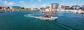 Maritime Volunteer Service - The MVS on the water at Sovereign Harbour in Eastbourne.
