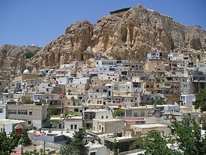 English: Ma'loula, Syria - a view of the Chris...