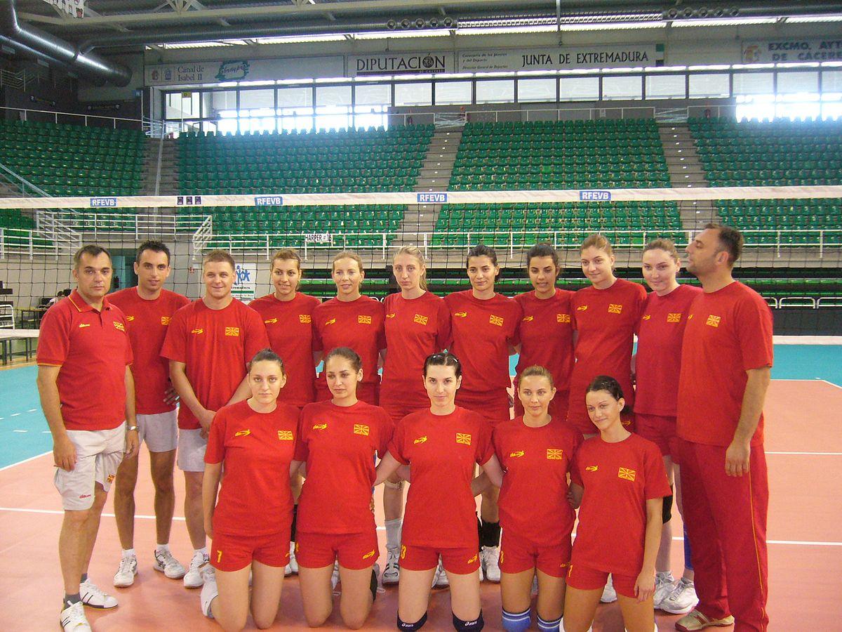 File Macedonia Women S National Volleyball Team Jpg Wikimedia Commons