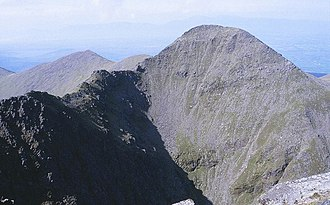 Beenkeragh - Beenkeragh as viewed from the summit of Carrauntoohil; with the Beenkeragh Ridge (left)
