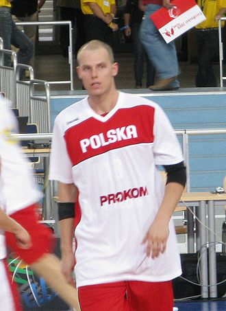 Poland national basketball team - Maciej Lampe represents Poland internationally. Lampe and Marcin Gortat are known as Poland's own Twin Towers.