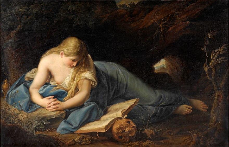 Maddalena penitente after Batoni