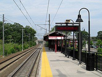 Madison station (Connecticut) - The single platform at Madison in June 2013