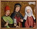 Maestro di liesborn, ss. cosma e damiano con la vergine, 1470-80 ca.jpg