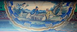 "Magu (deity) - 麻姑献寿 ""Magu Presents Longevity"", late 19th-century mural in the Summer Palace's Long Corridor."