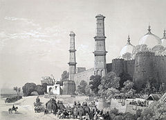 Maharajah Duleep Singh (1838-1893), entering his palace in Lahore, escorted by British troops