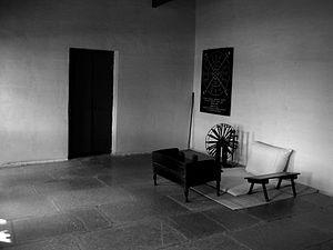 Sabarmati Ashram - Mahatma Gandhi's Visitor Room at Hridaya Kunj