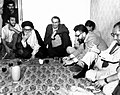 Mahmoud Taleghani meet with some members of Interim Government of Iran in a party after Iftar - August 1979.jpg