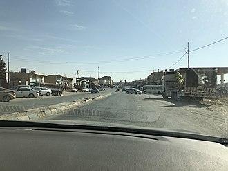 Mu'tah - Image: Main street of Mu'tah
