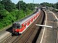 Mainz-Kastel- Bahnhof- auf Brücke der Bundesstraße 40- Richtung Frankfurt am Main- DB-Baureihe 420 307-1 4.6.2010.JPG