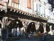 Covered shopfronts at Mirepoix