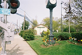 Malverne, New York - Malverne's main Long Island Rail Road station near the Village Hall.