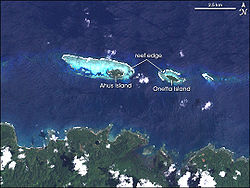 Aerial photo of Ahus Island, Papua New Guinea