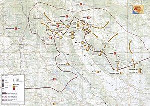Operation Summer '95 - Image: Map 57 Bosnia Croatia Livno Valley 25 30 July 1995
