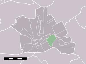 Breeveld - Image: Map NL Woerden Breeveld