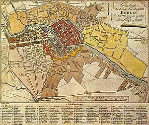 Luisenstadt - Image: Map de berlin 1789