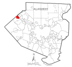 Map of Crescent Township, Allegheny County, Pennsylvania Highlighted.png