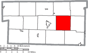 Berlin Township, Holmes County, Ohio - Image: Map of Holmes County Ohio Highlighting Berlin Township