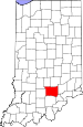 Map of Indiana highlighting Jackson County.svg