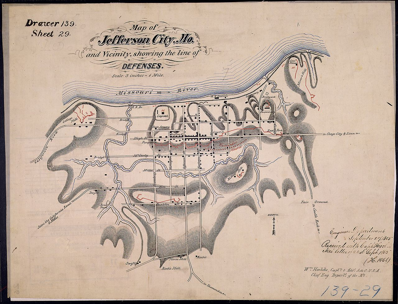 File:Map of Jefferson City, Mo., and Vicinity, showing the line of ...
