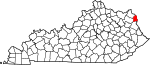 State map highlighting Boyd County