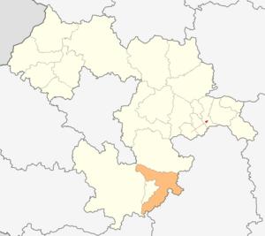 Kostenets Municipality - Image: Map of Kostenets municipality (Sofia Province)