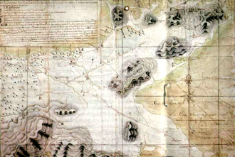 Viceroyalty of New Granada - Map of La Guajira in 1769