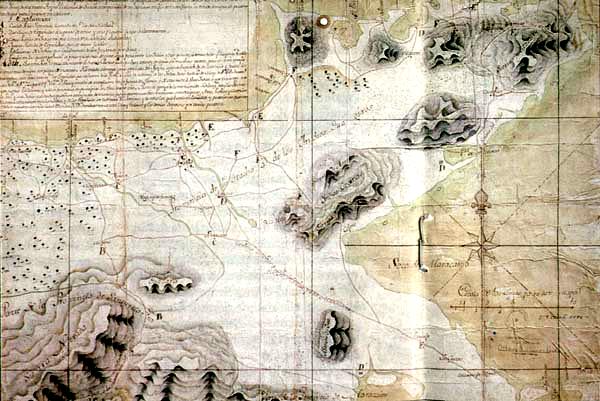 Map of La Guajira 1769