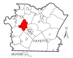 Location of Menallen Township in Fayette County