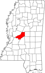 Map of Mississippi highlighting Madison County.svg