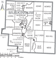 Municipalities and townships of Muskingum County