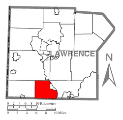 Location of New Beaver in Lawrence County
