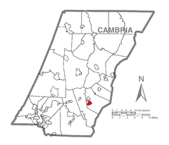 Map of Spring Hill, Cambria County, Pennsylvania Highlighted.png