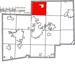 Location of Lake Township in Stark County
