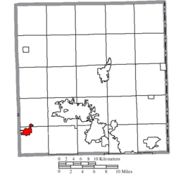 Location of Newton Falls in Trumbull County
